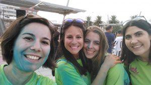 Trabajadoras de Autismo Melilla participan como voluntarias en la Color Run Festival